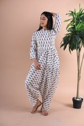 Cotton Hand Block Printed Jumpsuits.
