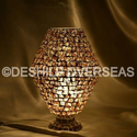 Acc To Standard Mosaic Brown Table Lamp