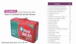 Aluminium Class C Industrial First Aid Kit / Medical Kit / Emergency Kit, Packaging Type: Box