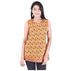 Printed Sleeveless Designer Top