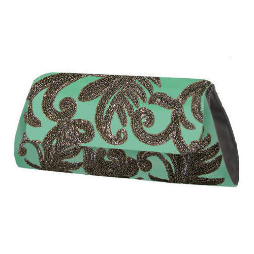 Fever India Canvas Embroidered Clutch Bag