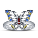 Butterfly Silver Ladies Ring