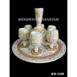 White Makrana Marble for Table Decoration Handicraft