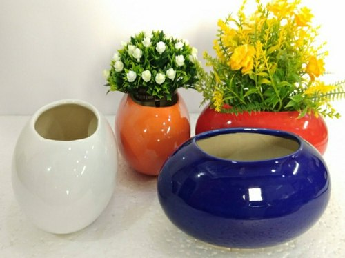 Ceramic Planter Egg Oval