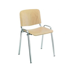 Shubh Mild Steel Wooden Visitor Chair