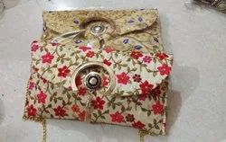 Silk,Velvet Embroidered Embroidery Clutch