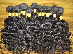 Natural Color Unprocessed Temple Indian Human Hair