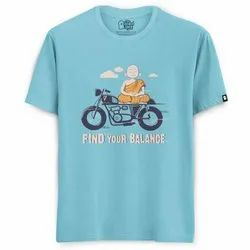 100% Cotton (bio-washed) Casual Wear Find Your Balance Printed T Shirts
