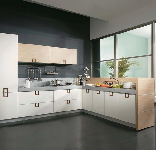 Daksha Wooden Acrylic Modular Kitchen, Warranty: 1-5 Years