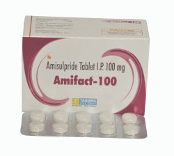 Amisulpride Tablet I.P 100 mg, Packaging Type: Strips