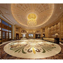Marble Inlay Flooring Service In Lobby