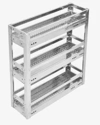 Silver Iron 3 Self Pull Out Perforated Basket, 15 Kg