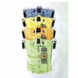 Cotton Casual Wear Kids Designer Shirt, 3-8 Number
