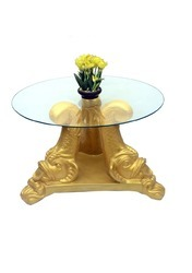 Unique Golden Tea Table