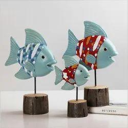 手工多色木鱼,装饰