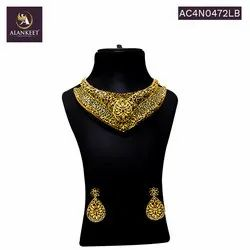 Choker Bollywood Style Necklace Set for Women with Earrings