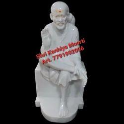 White Marble Sai Baba Statue