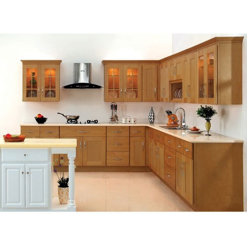 Wood Brown Mdf Kitchen Cabinet Rs 1300 Square Feet Raamz Interiors Id 15045301655