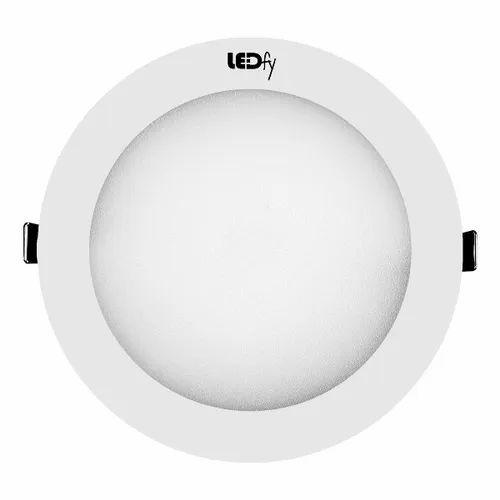 Pure White LED Panel Light 18W Round, Warranty: 1 Year