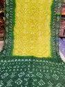 Jilani Textile Tafeta Bandhani Silk Sarees, 6 M (with Blouse Piece)