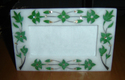 Beautiful White Marble Inlay Work Tray