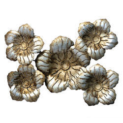 Silver Plated Wall Decor Flower