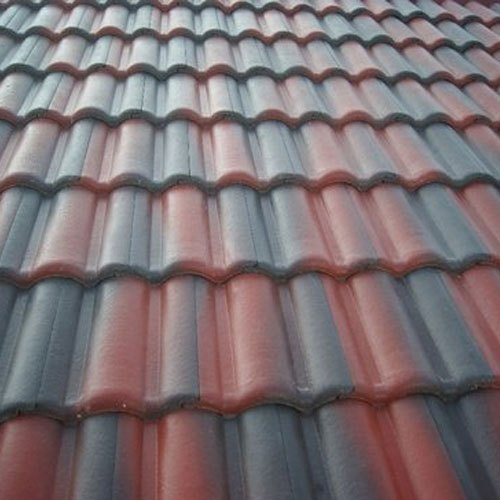 Profile Color Coated Concrete Roof Tiles Features Double Groove Tiles Rs 40 Piece Id 15238441348