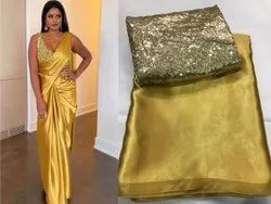 Heavy Satin Silk Indian Wear Saree