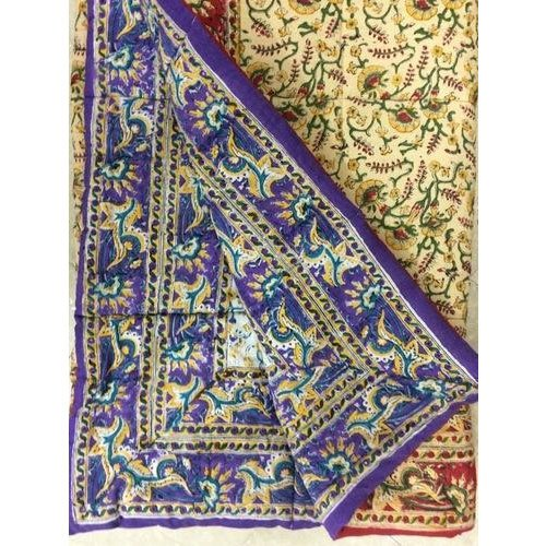 Carton Fabric Hand Block Kantha Quilt