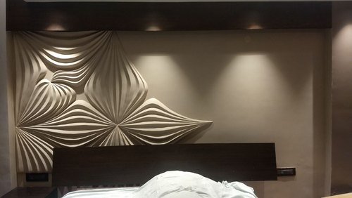3D MDf Wall Panel, Thickness: 17 To 25