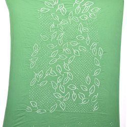 All Over Green Color Fancy Design Cotton Bandhani Kurti