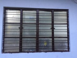 Black Mild Steel Rectangular MS Window