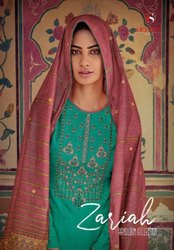 Deepsy Suits Zariah Self Woven Pashmina Print Dress Material Catalog