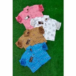 Mens Floral Printed Cotton Shirt, Size: M-xxl