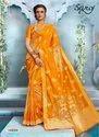 Yellow Color Lichi Silk Saree
