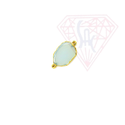 Electroplated Fancy Color Gemstone Bezel Connector- Gold plated