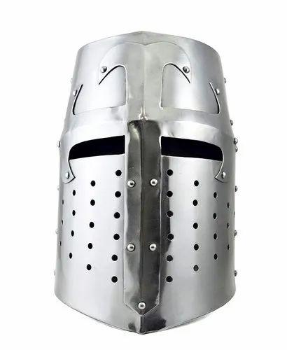 Sugarloaf Armor Helmet ~ Brass Accents  Medieval Knight Crusader  Armer A