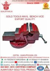 Gold Tool Bench Vice With Steel Anvil