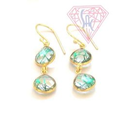 Sameer Art & Craft Heart Shape Earrings, Size: 10 mm