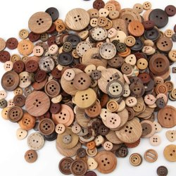 Round 4 Hole Fancy Wooden Button, For Shirt, Packaging Type: Packet