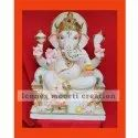 White And Gold Ganesh Statues
