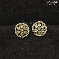 Kundan And Pearl Earrings
