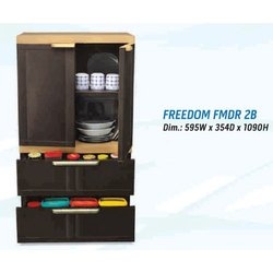 Modern Brown Plastic Nilkamal Freedom FMDR 2B Drawer, For Home, Size: Dim :595w X354 D X1435 H