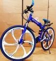 Blue Mercedes Benz  6s Foldable Cycle