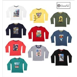 New Born-14 Year Kids Printed Full Sleeve Cotton Hosiery T Shirt