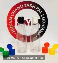Natural Hdpe Plastic 60 ml sanitizer pet bottle, Use For Storage: Chemical, FLIP TOP