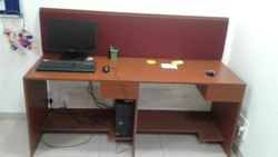 MDF Board Brown Office Workstation Without Keyboard, Seating Capacity: 1 Person