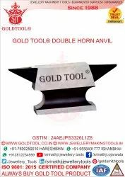 Double Horn Anvil With Rectangle Base
