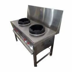 Commercial Two Burner Chinese Gas Range