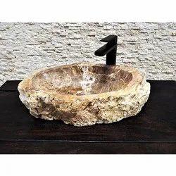 Stone Petrified Wood Washbasin